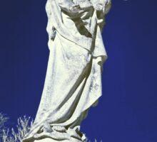 Infrared madonna and child statue Sticker