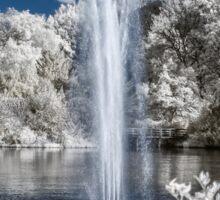 Fountain in Infrared Sticker