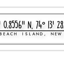 LBI Coordinates Sticker