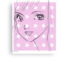 manga eye scribble three Canvas Print