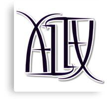 """Alex"" Ambigram (reversible image) Canvas Print"