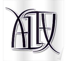 """Alex"" Ambigram (reversible image) Poster"