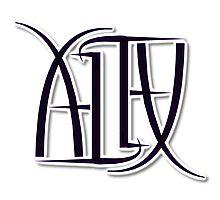 """Alex"" Ambigram (reversible image) Photographic Print"