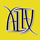 """Alex"" Ambigram (reversible image) by flatfrog00"