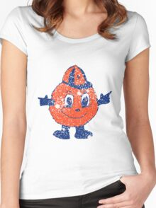 Distressed Otto Syracuse University  Women's Fitted Scoop T-Shirt