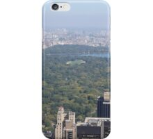 Aerial View of Central Park, Top of the Rock Observation Deck, New York City iPhone Case/Skin