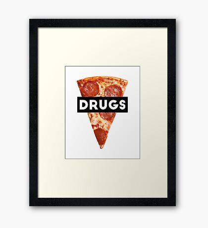 Drugs = Pizza Framed Print
