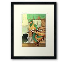 sniper companion Framed Print