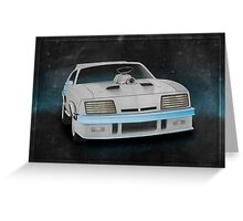 Interceptor Time Machine Greeting Card