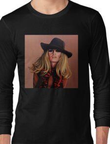 Brigitte Bardot Painting Long Sleeve T-Shirt