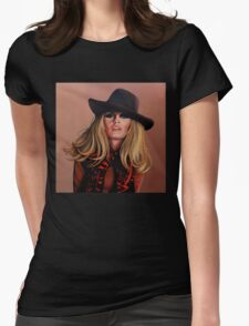 Brigitte Bardot Painting Womens Fitted T-Shirt