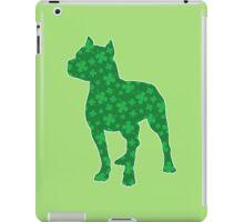St. Patrick's Shamrock Pitbull iPad Case/Skin