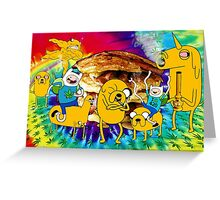 Adventure Time Bacon Pancakes Greeting Card