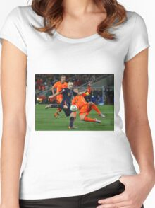 INIESTA - FIFA WORLD CUP 2010 Women's Fitted Scoop T-Shirt