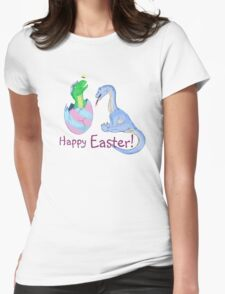 Easter Dinos Womens Fitted T-Shirt
