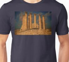 Jordan. Ancient Jerash. Ruins of the Temple. Columns. Unisex T-Shirt