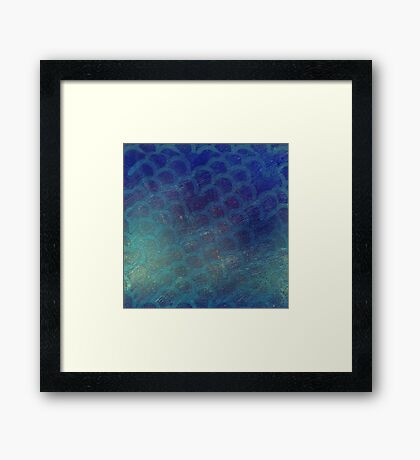 shimmery scales Framed Print