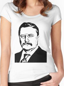 THEODORE ROOSEVELT (LARGE) Women's Fitted Scoop T-Shirt