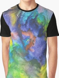 Cool Colors Tie Dye Style Crayon Art Graphic T-Shirt