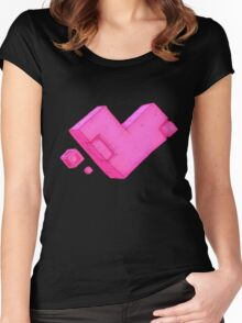 Cubic Heart Women's Fitted Scoop T-Shirt