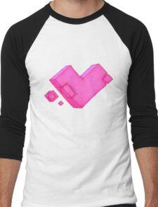 Cubic Heart Men's Baseball ¾ T-Shirt