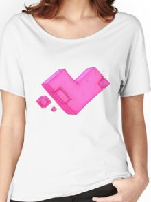 Cubic Heart Women's Relaxed Fit T-Shirt