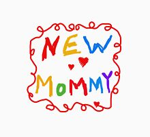 Colorful Text New Mommy Womens Fitted T-Shirt