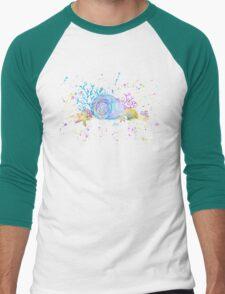 Seashells & Coral Watercolor Men's Baseball ¾ T-Shirt