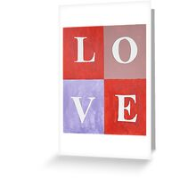 LOVE Graphic Mixed Media Greeting Card