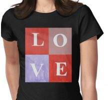 LOVE Graphic Mixed Media Womens Fitted T-Shirt