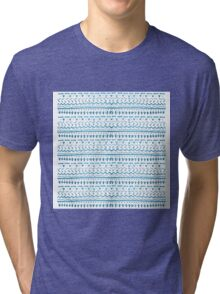 Pattern Play in Turquoise Tri-blend T-Shirt