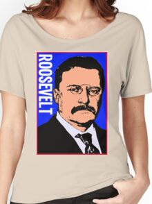 THEODORE ROOSEVELT-COLOR Women's Relaxed Fit T-Shirt