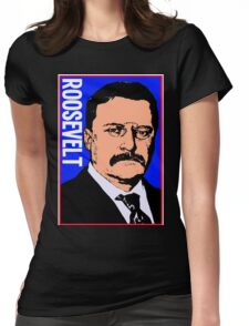 THEODORE ROOSEVELT-COLOR Womens Fitted T-Shirt