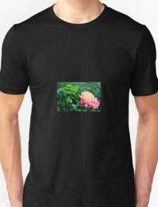 Pink and yellow roses Unisex T-Shirt