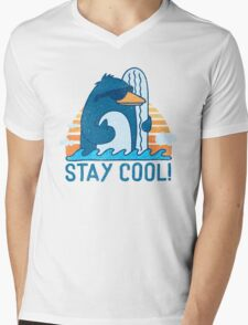 STAY COOL! Mens V-Neck T-Shirt