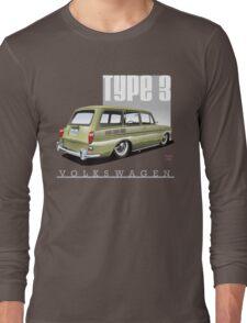 VW Squareback in Safari Beige Long Sleeve T-Shirt