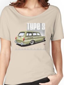 VW Squareback in Safari Beige Women's Relaxed Fit T-Shirt