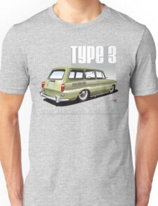 VW Squareback in Safari Beige Unisex T-Shirt