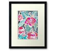 Peach Hibiscus Framed Print