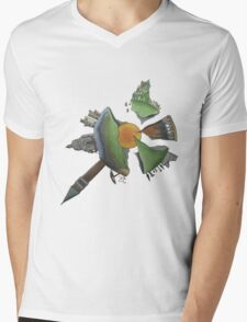 Pint Size Planet (Italy) Mens V-Neck T-Shirt
