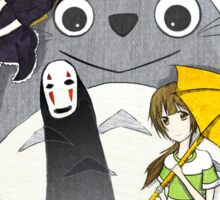 Ghibli Family Sticker
