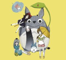 Ghibli Family One Piece - Short Sleeve