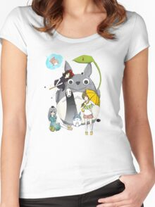 Ghibli Family Women's Fitted Scoop T-Shirt