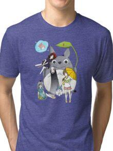 Ghibli Family Tri-blend T-Shirt