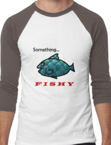 Something Fishy Men's Baseball ¾ T-Shirt