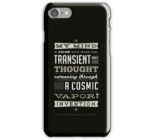 Funny Classic Movie Quote typography from Blazing Saddles by Harvey Korman iPhone Case/Skin