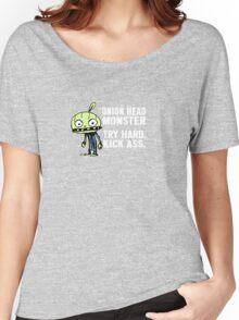 Onion Head Monster- Try Hard. Kick Ass. Women's Relaxed Fit T-Shirt