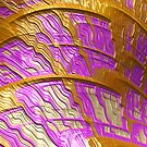 Pink And Gold Brago-Mitchell Fine Fractal Art by Vicky Brago-Mitchell