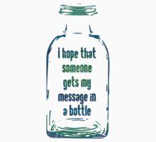 Message In A Bottle Kids Tee