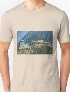 Streetscape Reflected on Surface of the AGO Unisex T-Shirt